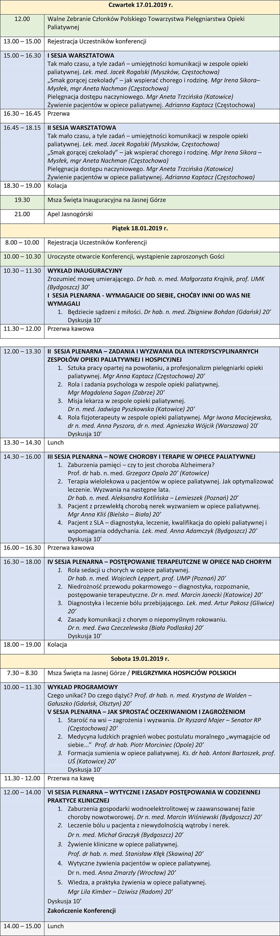 Program konferencji